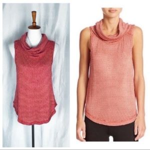 Free People Timber Cowl coral knit tank top
